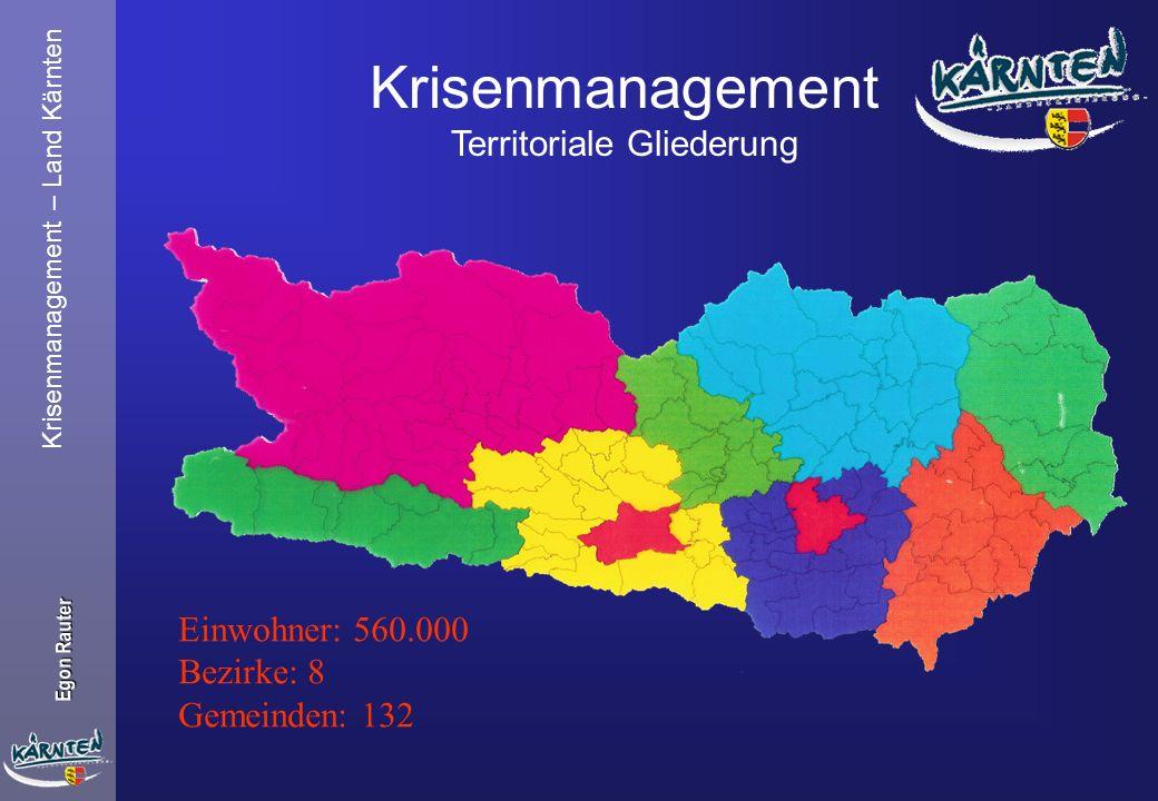 Krisenmanagement Territoriale Gliederung