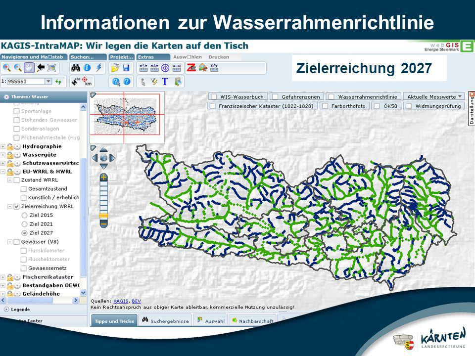 Informationen zur Wasserrahmenrichtlinie