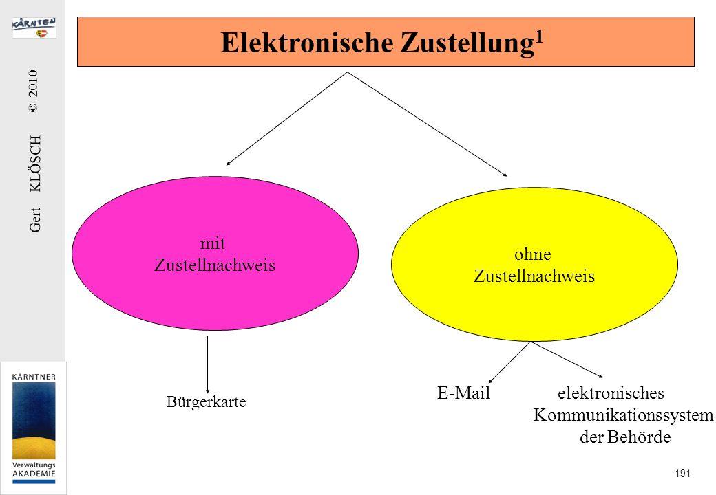 Elektronische Zustellung2 (§ 35 ZustG)