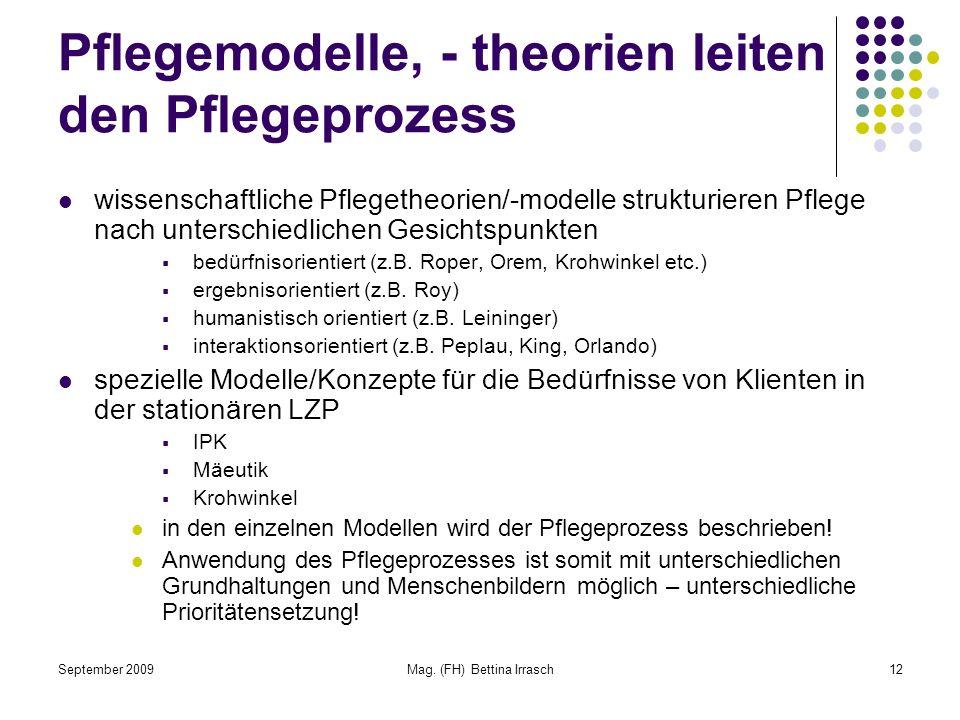 Pflegemodelle, - theorien leiten den Pflegeprozess