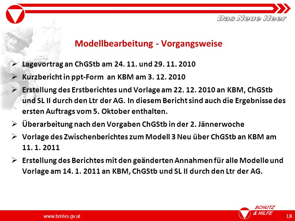 Modellbearbeitung - Vorgangsweise