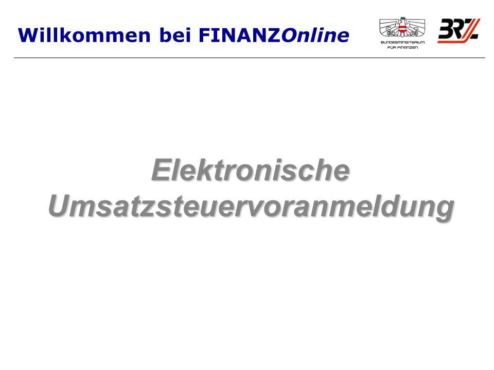 Elektronische Umsatzsteuervoranmeldung