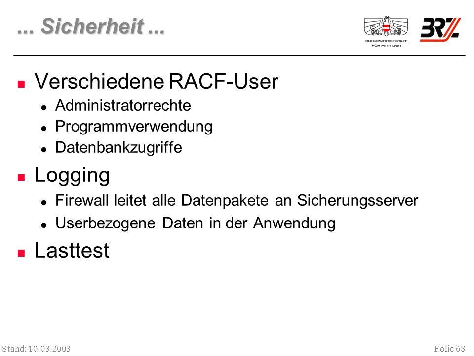 Verschiedene RACF-User
