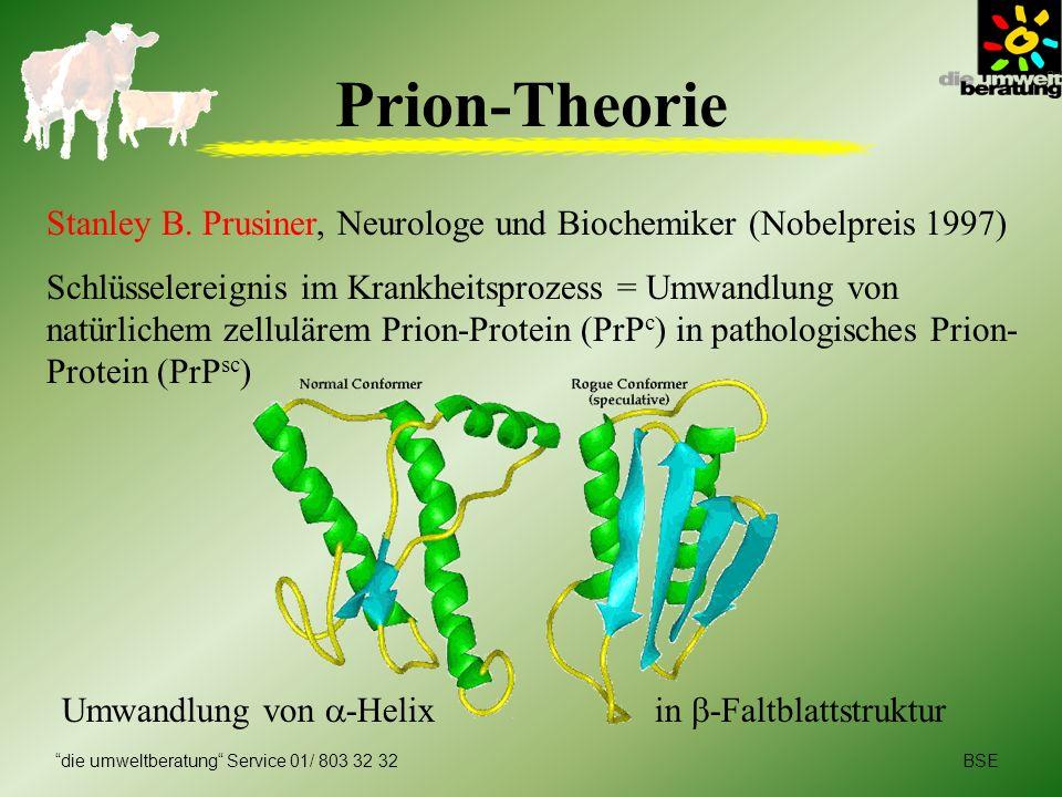 Prion-Theorie Stanley B. Prusiner, Neurologe und Biochemiker (Nobelpreis 1997)
