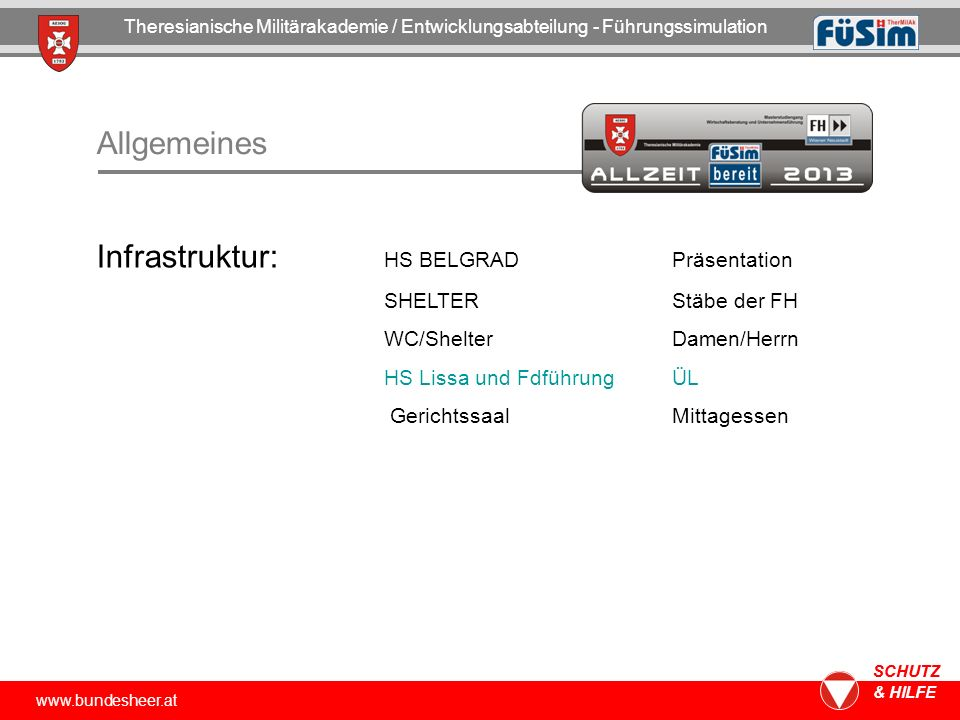 Infrastruktur: HS BELGRAD Präsentation