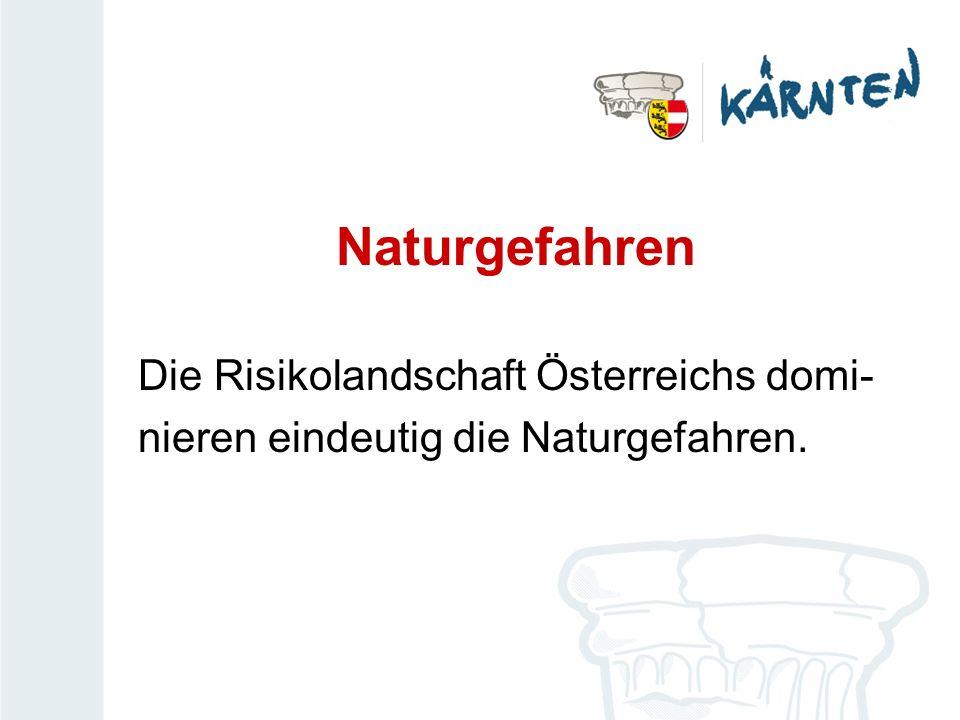 Naturgefahren Die Risikolandschaft Österreichs domi-