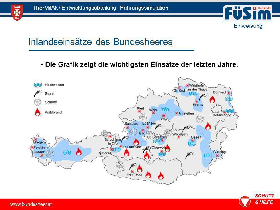 Inlandseinsätze des Bundesheeres