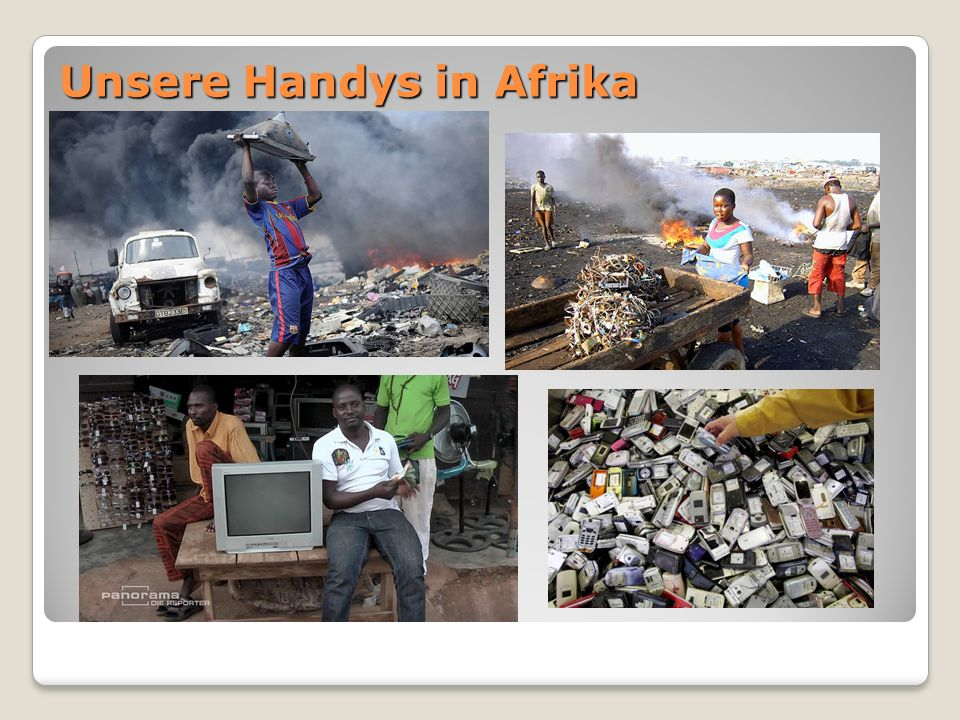 Unsere Handys in Afrika