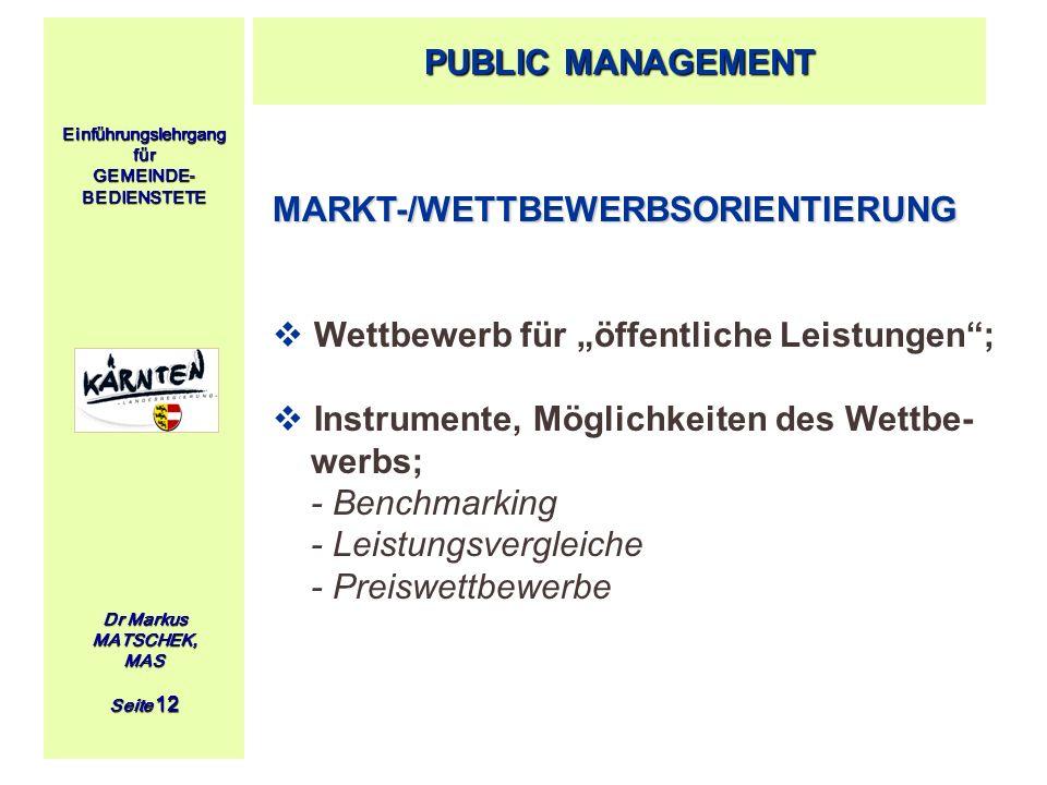 MARKT-/WETTBEWERBSORIENTIERUNG