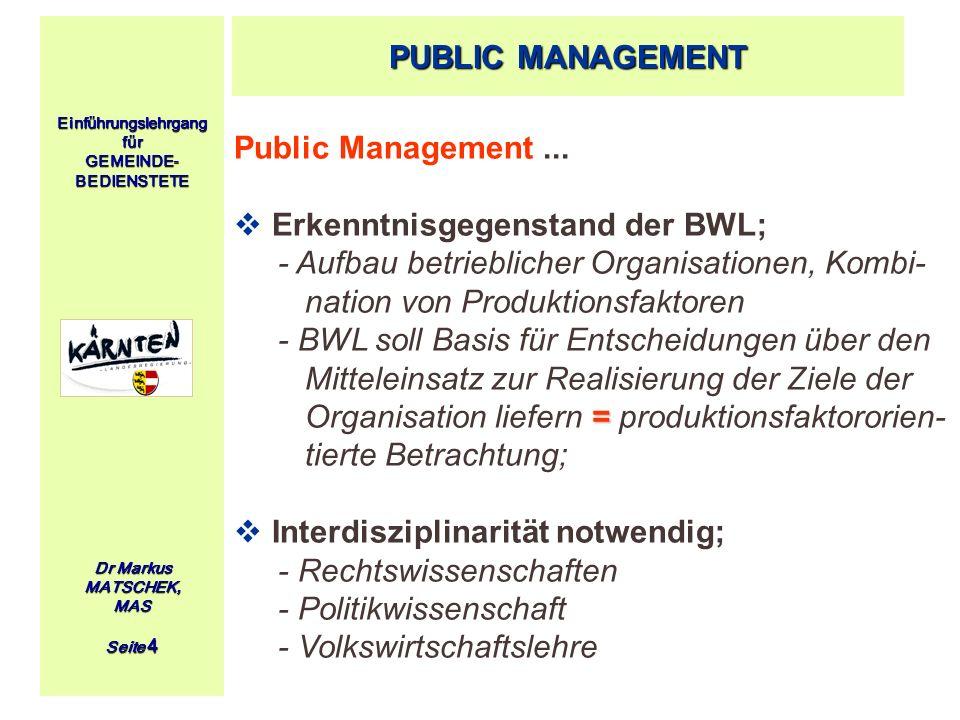 Erkenntnisgegenstand der BWL;