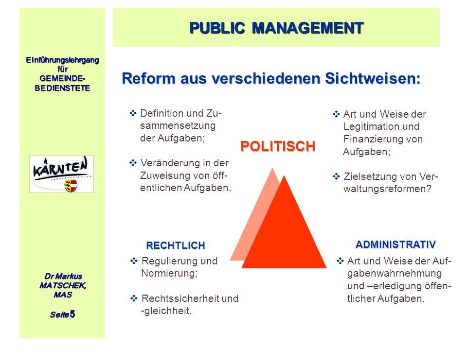 Reform aus verschiedenen Sichtweisen: