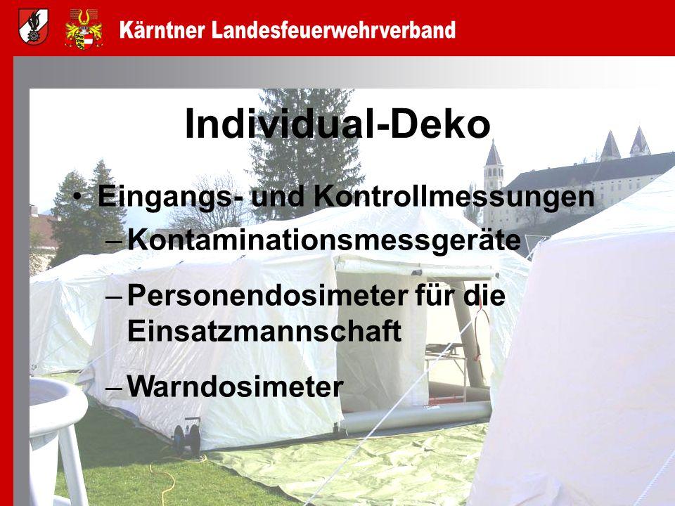 Individual-Deko Eingangs- und Kontrollmessungen