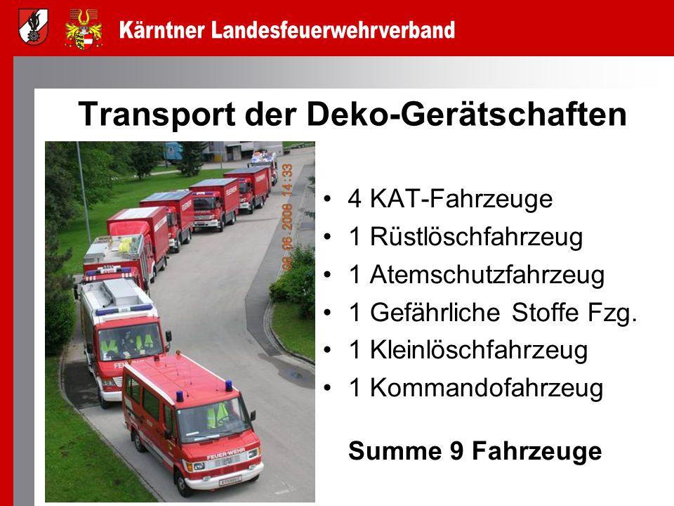 Transport der Deko-Gerätschaften