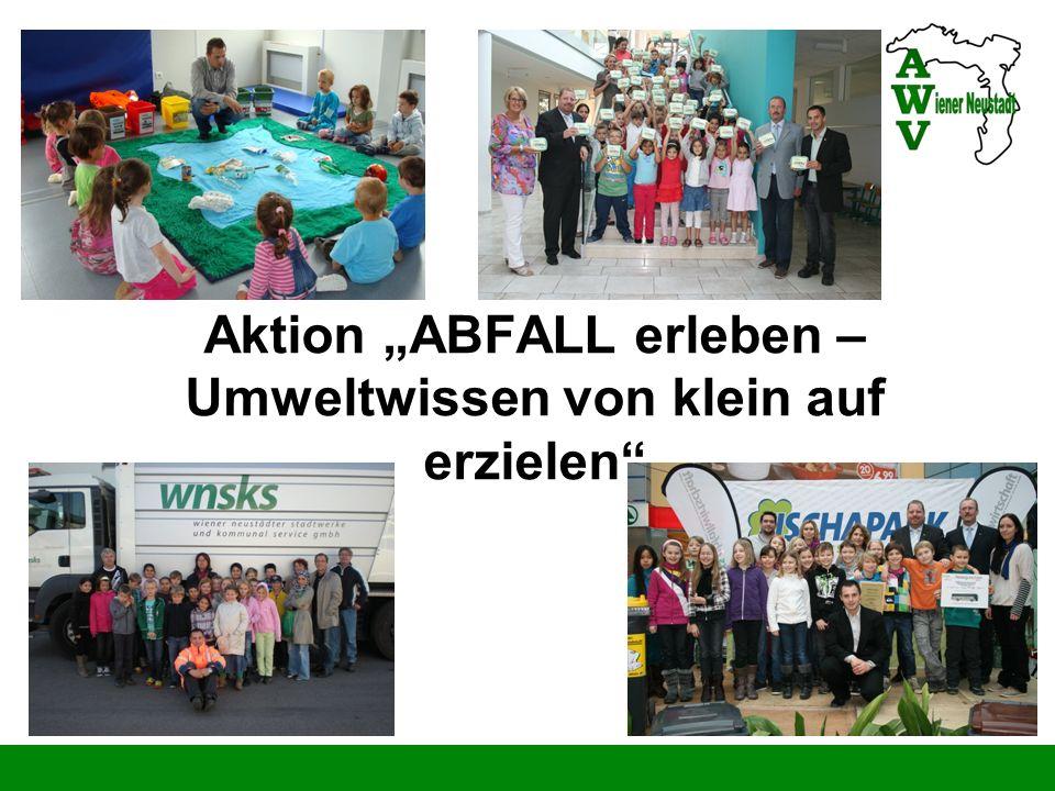 """Aktion """"ABFALL erleben – Umweltwissen von klein auf erzielen"""