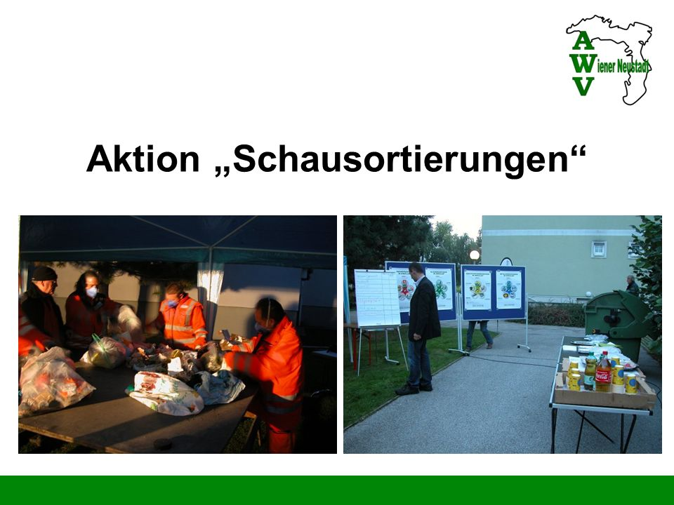 "Aktion ""Schausortierungen"