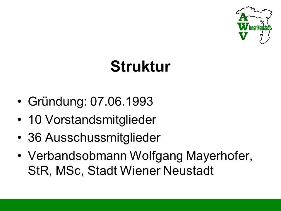 Struktur Gründung: 07.06.1993 10 Vorstandsmitglieder