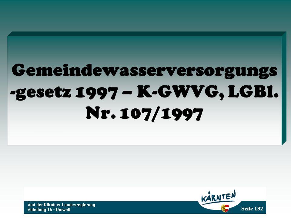 Gemeindewasserversorgungs-gesetz 1997 – K-GWVG, LGBl. Nr. 107/1997