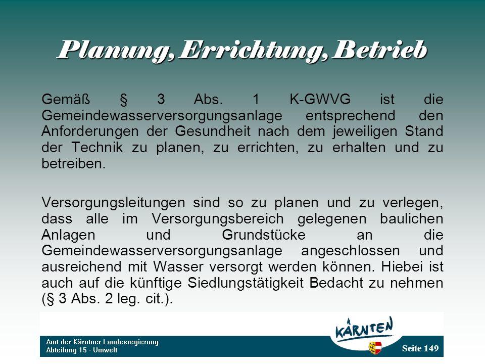 Planung, Errichtung, Betrieb