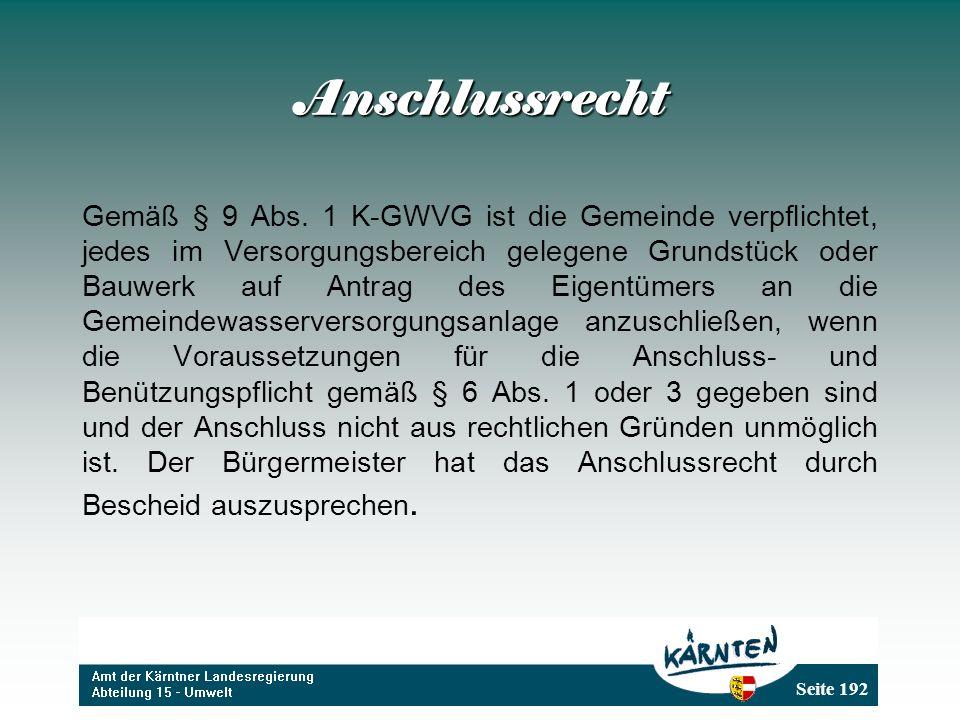 Anschlussrecht