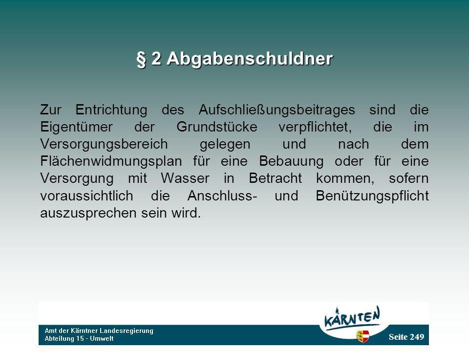 § 2 Abgabenschuldner