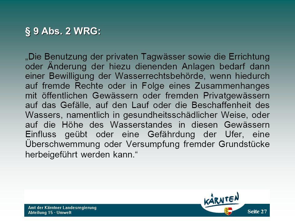 § 9 Abs. 2 WRG: