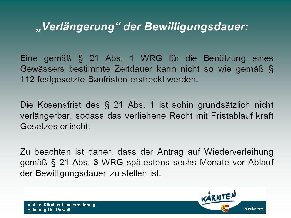 """""""Verlängerung der Bewilligungsdauer:"""