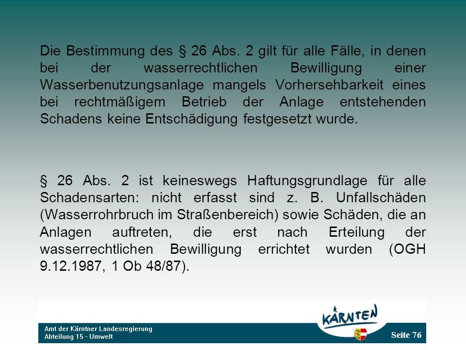 Die Bestimmung des § 26 Abs