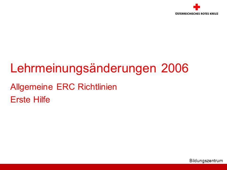 Lehrmeinungsänderungen 2006