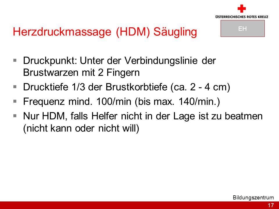 Herzdruckmassage (HDM) Säugling