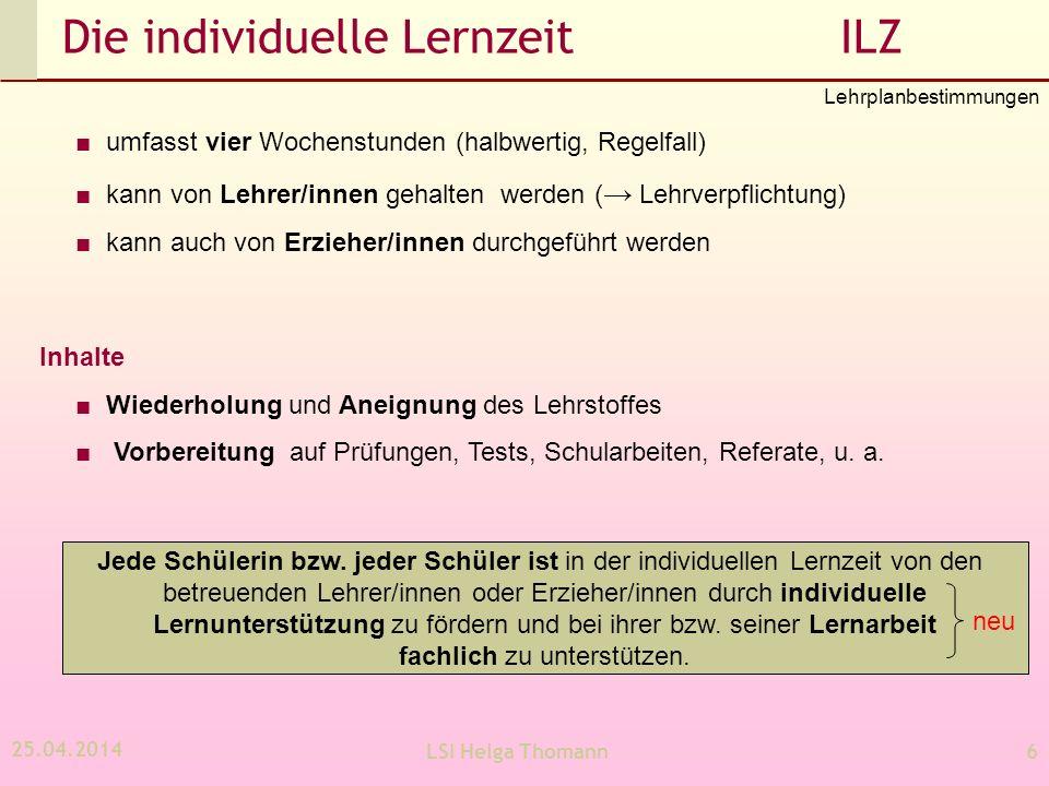 Die individuelle Lernzeit ILZ