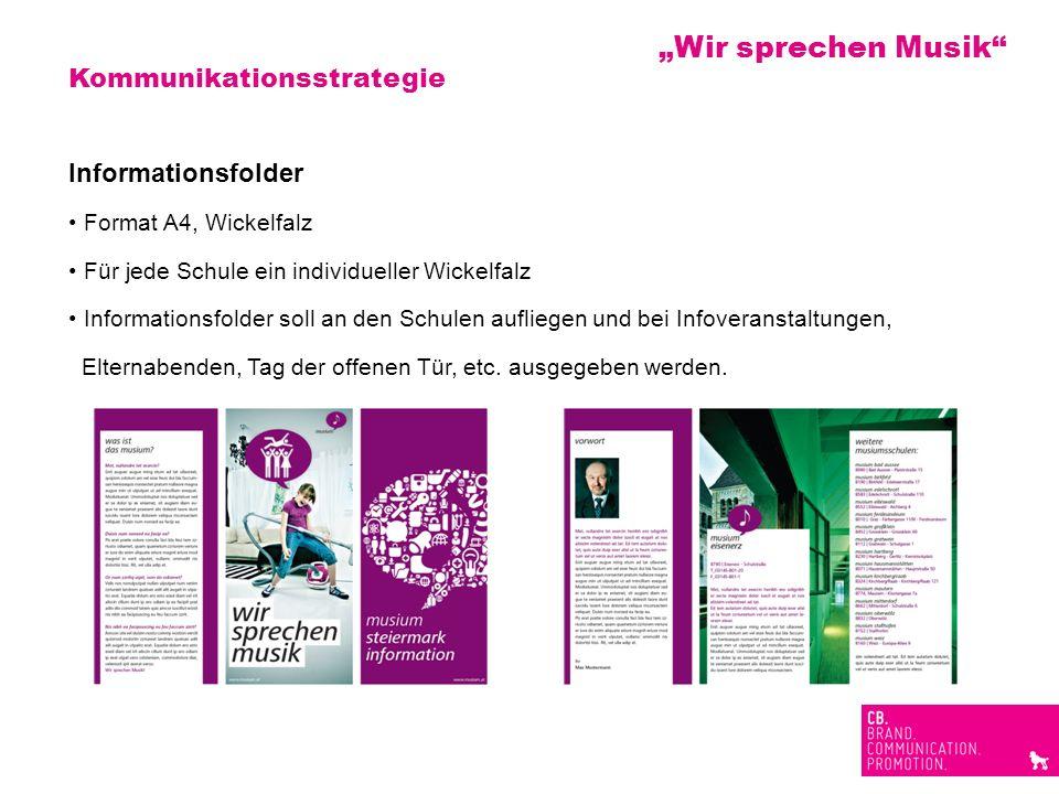 """""""Wir sprechen Musik Kommunikationsstrategie Informationsfolder"""