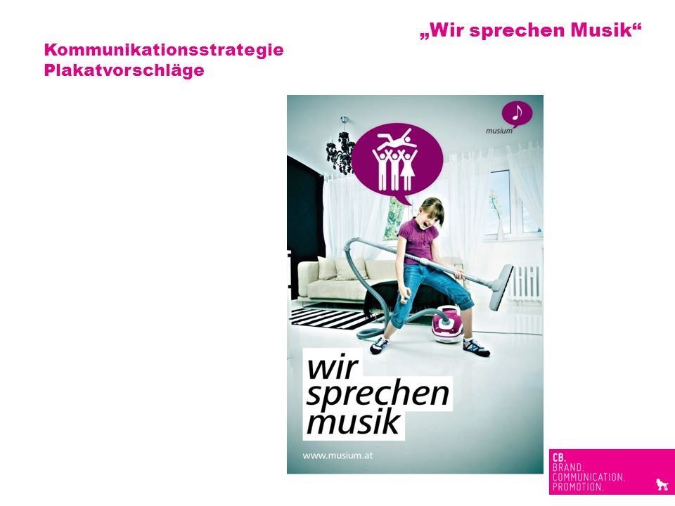 """""""Wir sprechen Musik Kommunikationsstrategie Plakatvorschläge"""