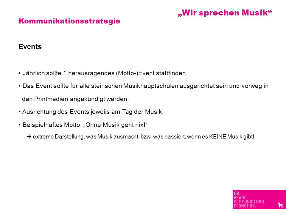 """""""Wir sprechen Musik Kommunikationsstrategie Events"""