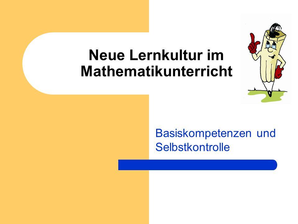 Neue Lernkultur im Mathematikunterricht