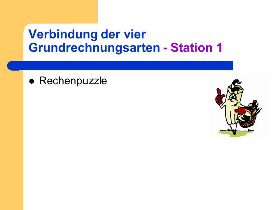 Verbindung der vier Grundrechnungsarten - Station 1