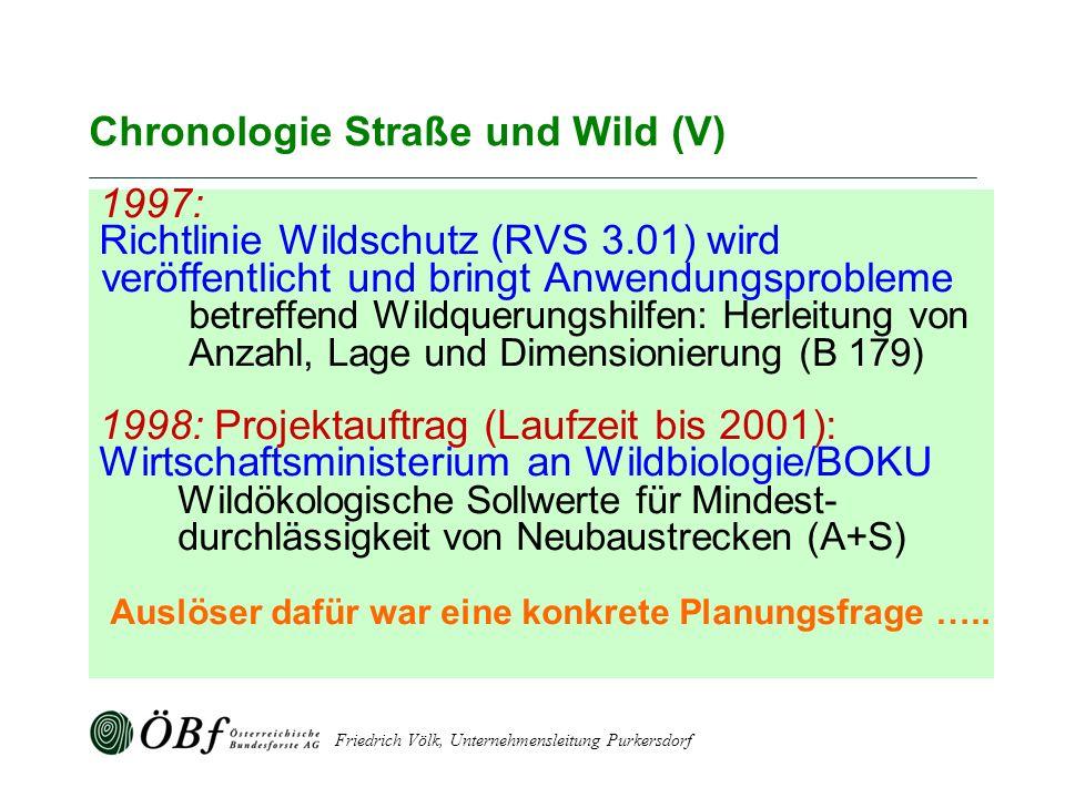 Chronologie Straße und Wild (V)