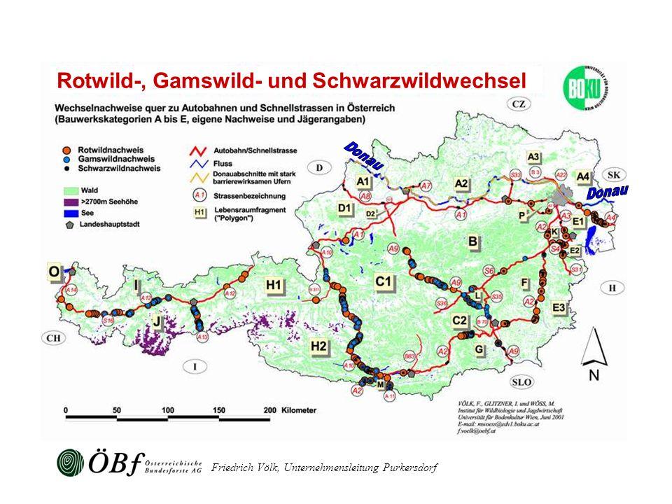 Rotwild-, Gamswild- und Schwarzwildwechsel