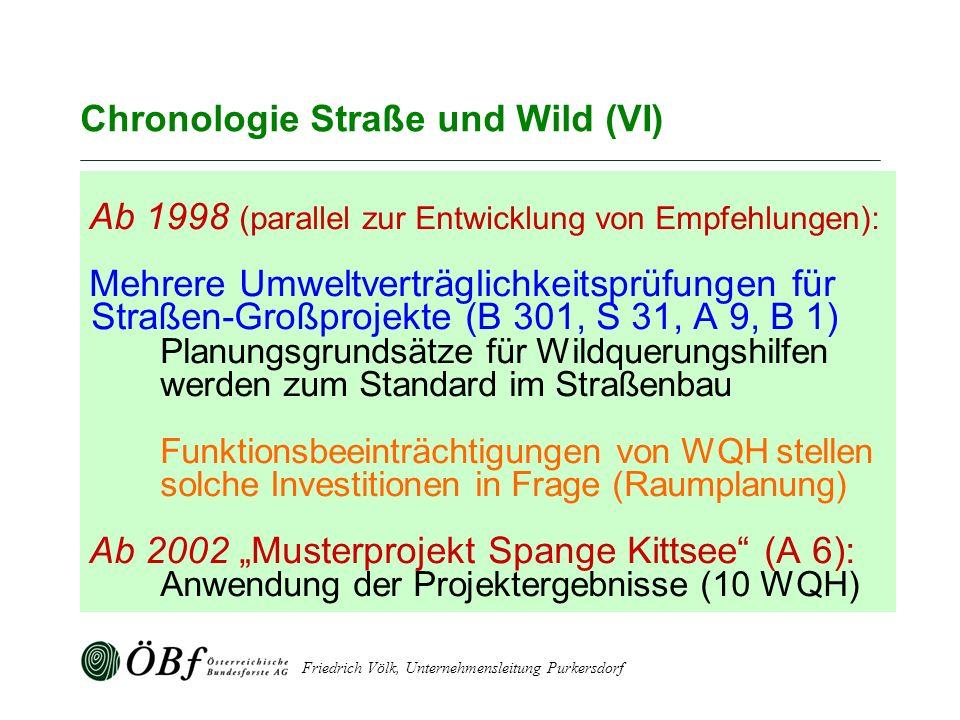 Chronologie Straße und Wild (VI)