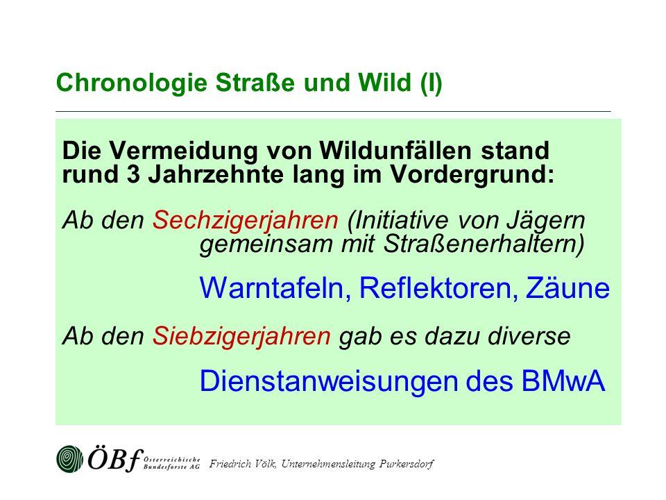 Chronologie Straße und Wild (I)