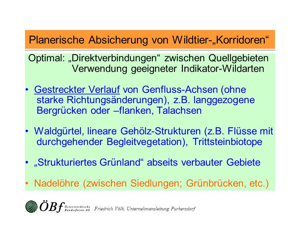 """Planerische Absicherung von Wildtier-""""Korridoren"""