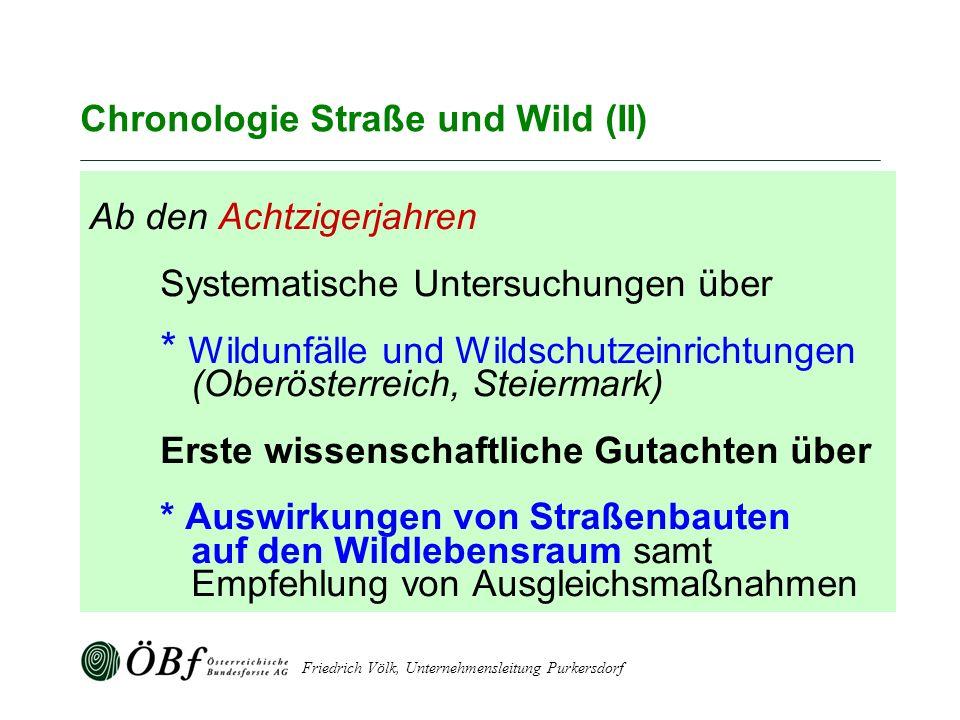 Chronologie Straße und Wild (II)
