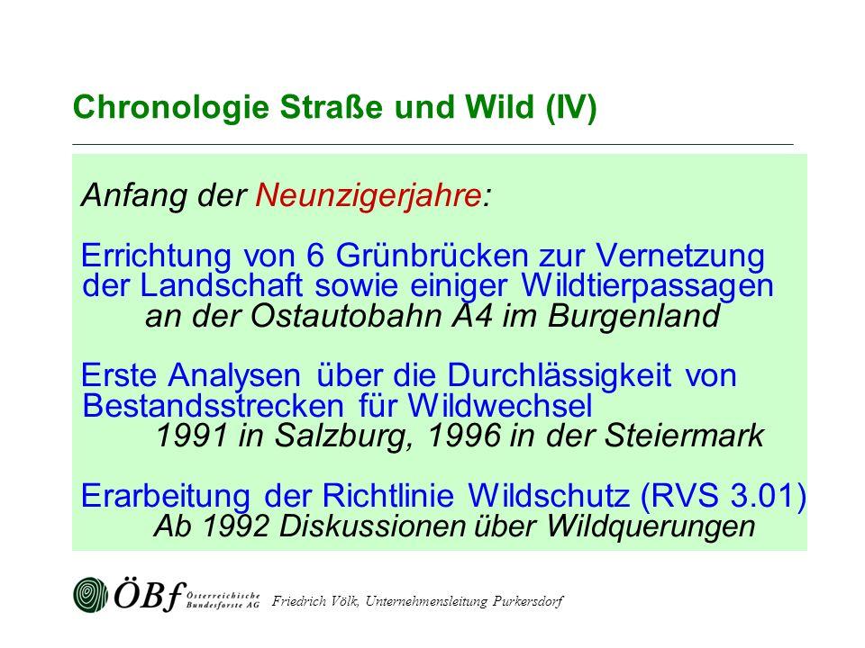 Chronologie Straße und Wild (IV)