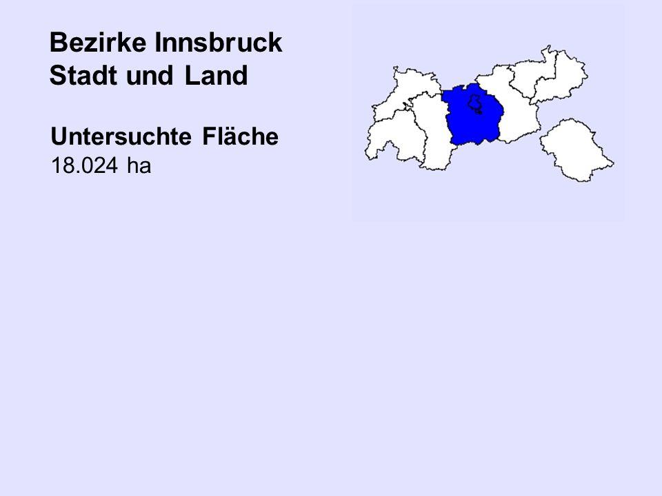 Bezirke Innsbruck Stadt und Land
