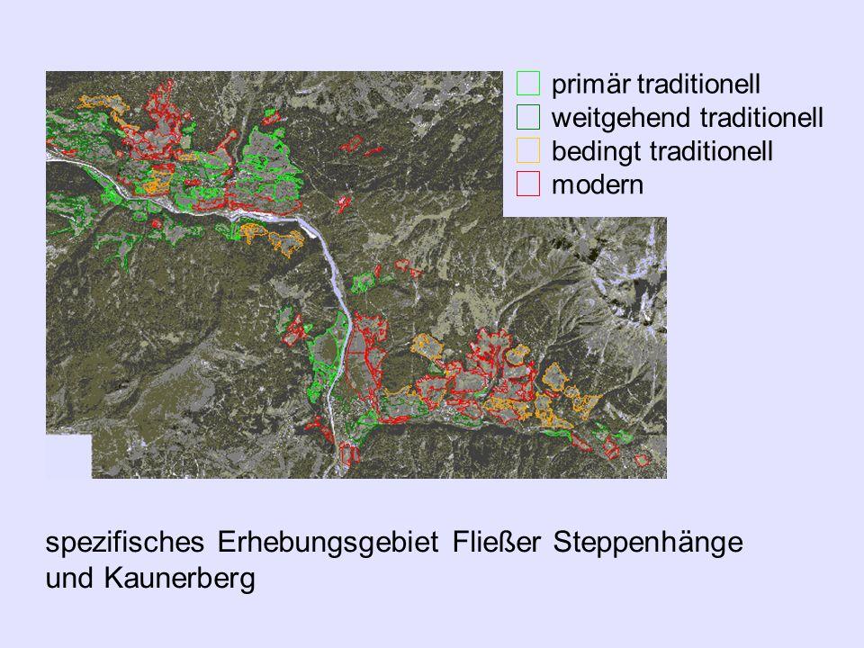 spezifisches Erhebungsgebiet Fließer Steppenhänge und Kaunerberg