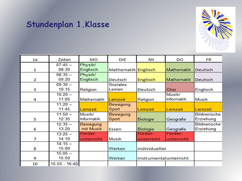 Stundenplan 1.Klasse