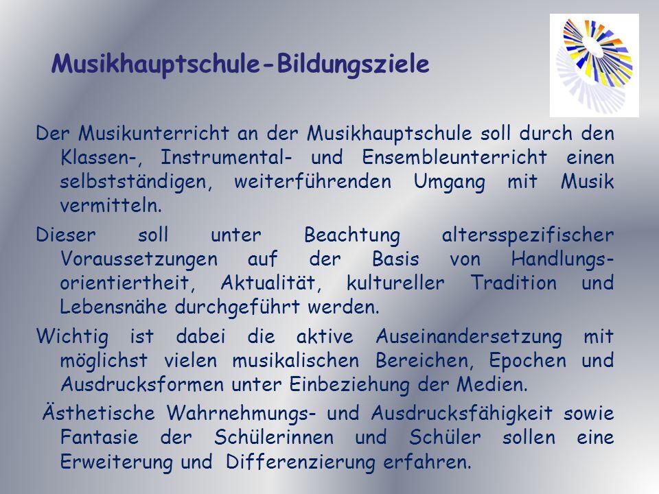 Musikhauptschule-Bildungsziele