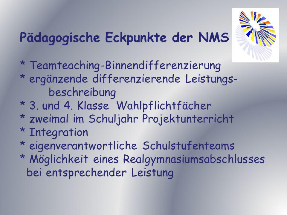 Pädagogische Eckpunkte der NMS