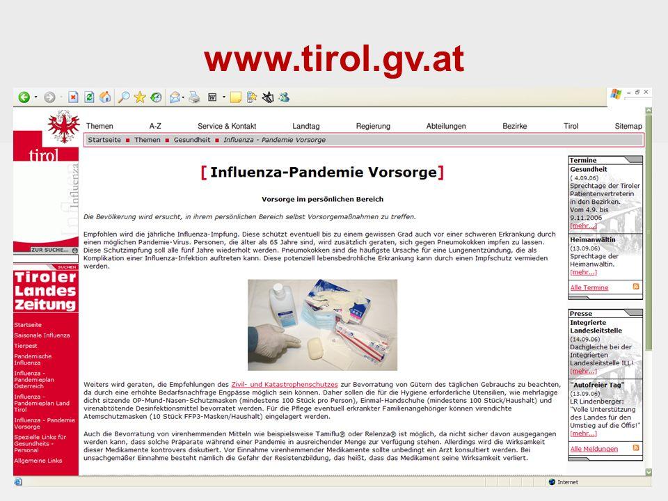 www.tirol.gv.at Landessanitätsdirektion für Tirol Mag.