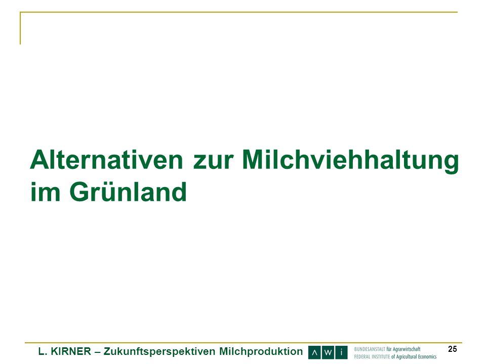 Alternativen zur Milchviehhaltung im Grünland