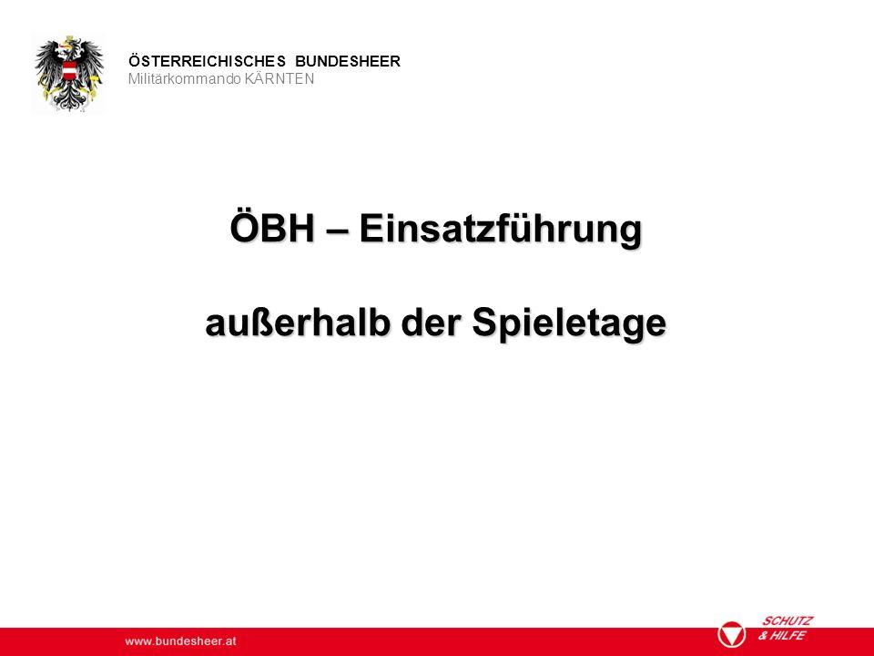 ÖBH – Einsatzführung außerhalb der Spieletage
